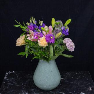 Boeket bloemen paars